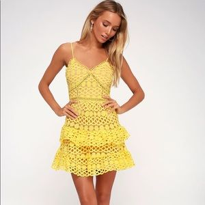 Lulu's Beauty and Lace Crochet Dress Mini Dress